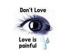 Painful love feelings