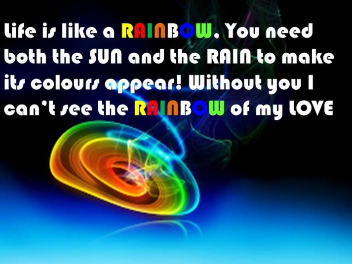 Rainbow requires both SUN and RAIN