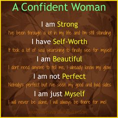 CONFIDDENT WOMAN